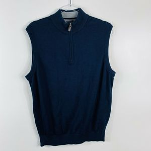 Daniel Cremieux Blue 1/4 Zip Vest Supima Cotton